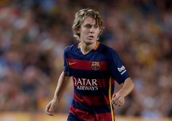 Alen Halilovic of FC Barcelona during the Joan Gamper Trophy match between Barcelona and AS Roma on August 5, 2015 at the Camp Nou stadium in Barcelona, Spain.(Photo by VI Images via Getty Images)