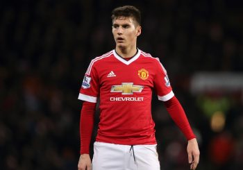 MANCHESTER, ENGLAND - MARCH 02: Guillermo Varela of Manchester United during the Barclays Premier League match between Manchester United and Watford at Old Trafford on March 02, 2016 in Manchester, England.  (Photo by Matthew Ashton - AMA/Getty Images)