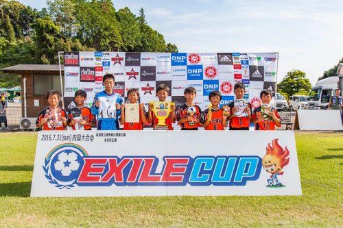 徹底したプレスと抜群のチームワークを披露したFC佐古が、EXILE CUP 四国大会を制覇