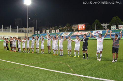●アルビレックス新潟Sが連勝で2位との勝ち点差を「4」に広げる
