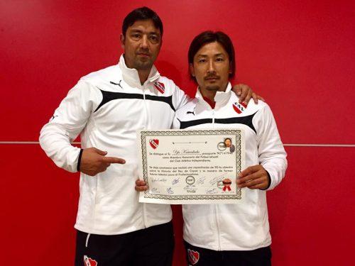 ●日本人の川久保氏がインデペンディエンテの名誉スタッフに就任