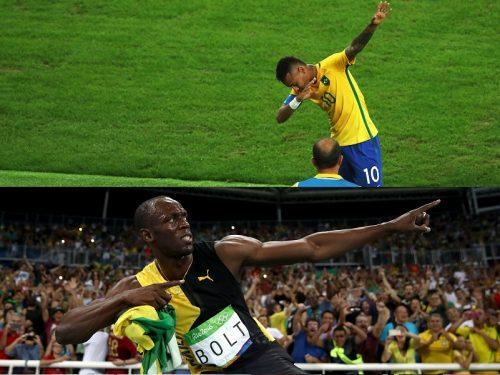 ネイマールのゴールパフォはあのポーズ? ボルトがブラジルの優勝を祝福
