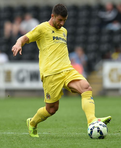 SWANSEA, WALES - AUGUST 09:  Bojan Jokic of Villarreal in action during a pre season friendly match between Swansea City and Villarreal at Liberty Stadium on August 09, 2014 in Swansea, Wales.  (Photo by Tom Dulat/Getty Images)