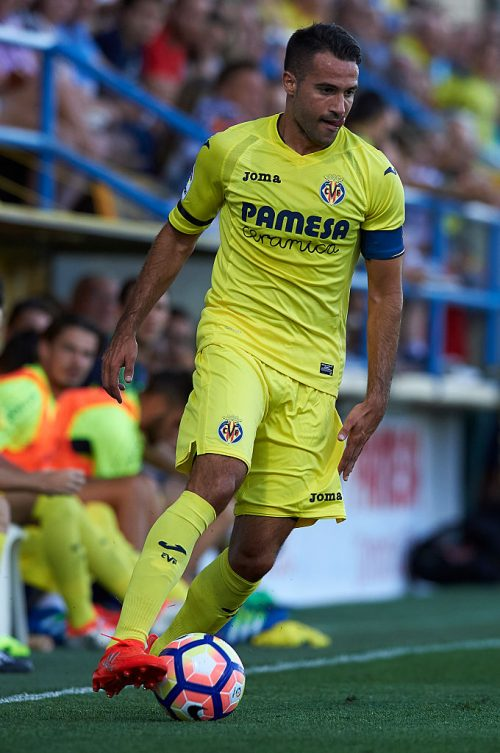 VILLARREAL, SPAIN - JULY 16:  Mario Gaspar of Villarreal runs with the ball during the friendly match between Villarreal CF and CD Hospitalet at Ciudad Deportiva of Miralcamp on July 16, 2016 in Villarreal, Spain.  (Photo by Manuel Queimadelos Alonso/Getty Images)