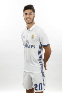 MADRID, SPAIN - AUGUST 18:  Marco Asensio of Real Madrid poses during a portrait session at Valdebebas training ground on August 18, 2016 in Madrid, Spain.  (Photo by Angel Martinez/Real Madrid via Getty Images)