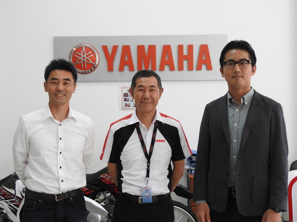 Yamaha Motor Cambodia 沼澤氏(中央)、 国際交流基金 濱田氏(右)、GFA Soriya 斉藤氏(左)