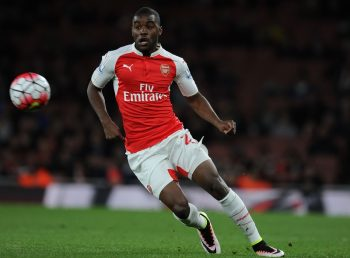 LONDON, ENGLAND - APRIL 21:  Joel Campbell of Arsenal during the Barclays Premier League match between Arsenal and West Bromwich Albion at Emirates Stadium on April 21, 2016 in London, England.  (Photo by Stuart MacFarlane/Arsenal FC via Getty Images)