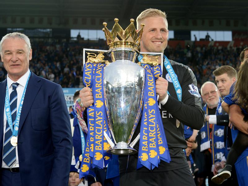 プレミアリーグ制覇の立役者になったシュマイケル [写真]=Leicester City FC via Getty Images