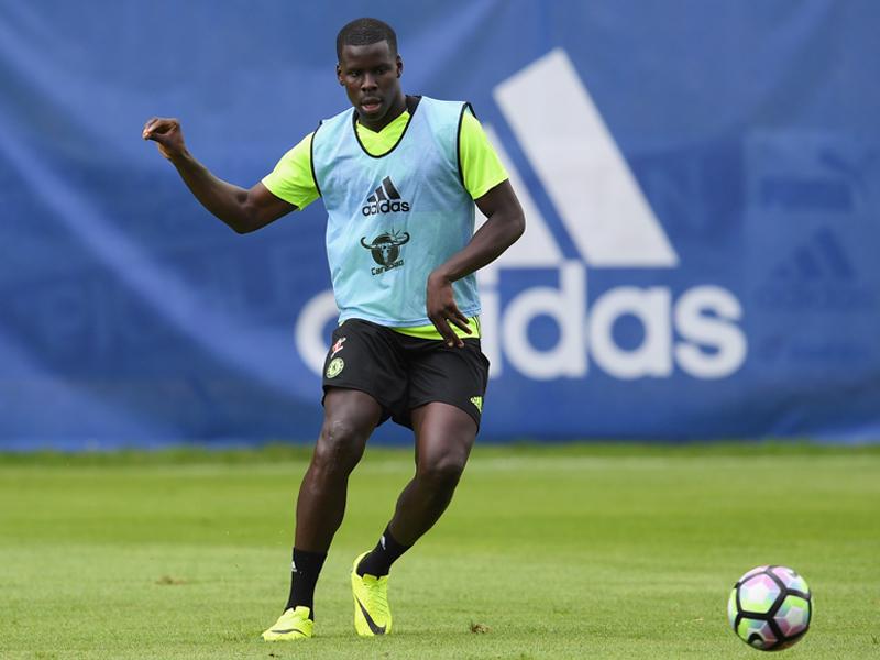 復帰に向けてトレーニングに励んでいるズマ [写真]=Chelsea FC via Getty Images