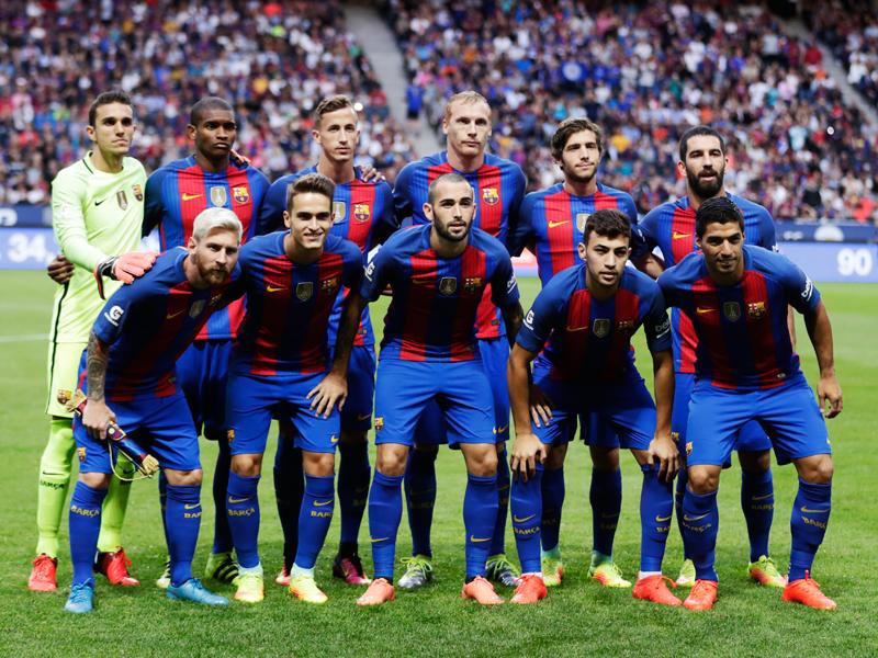 バルセロナの先発メンバー [写真]=Getty Images