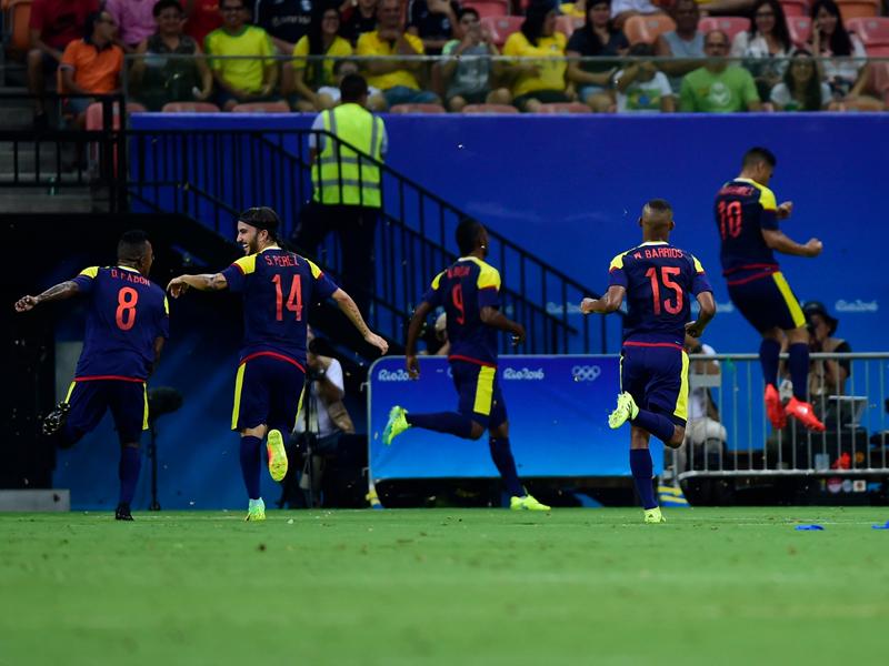 先制ゴールを決めたコロンビアの10番グティエレス(右) [写真]=Getty Images