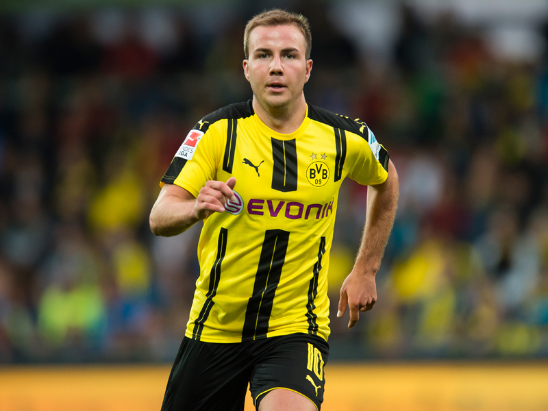 """ドルトムントでの""""復帰戦""""に臨んだゲッツェ [写真]=Borussia Dortmund/Getty Images"""