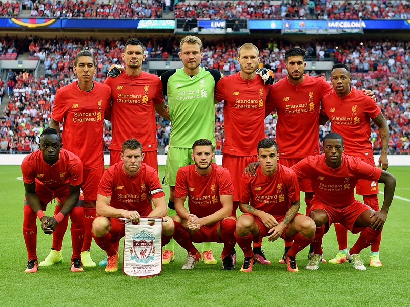 リヴァプールの先発メンバー [写真]=Liverpool FC via Getty Images