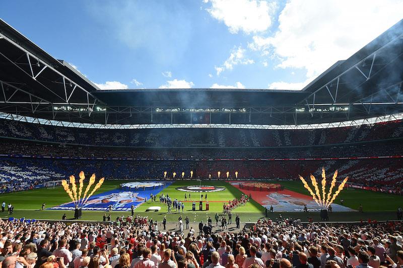 試合はウェンブリー・スタジアムで開催された [写真]=The FA via Getty Images