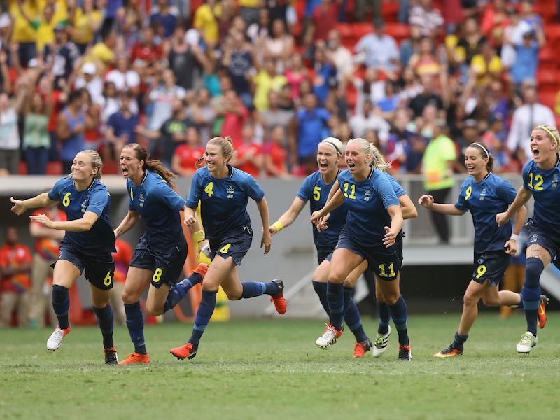優勝候補アメリカをスウェーデンが破った [写真]=Getty Images