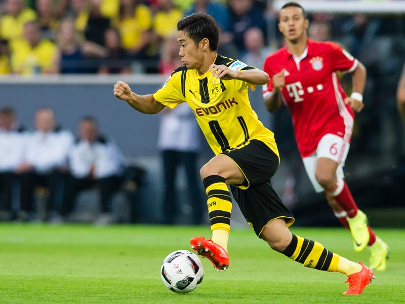 バイエルン戦でフル出場を果たした香川 [写真]=Borussia Dortmund/Getty Images