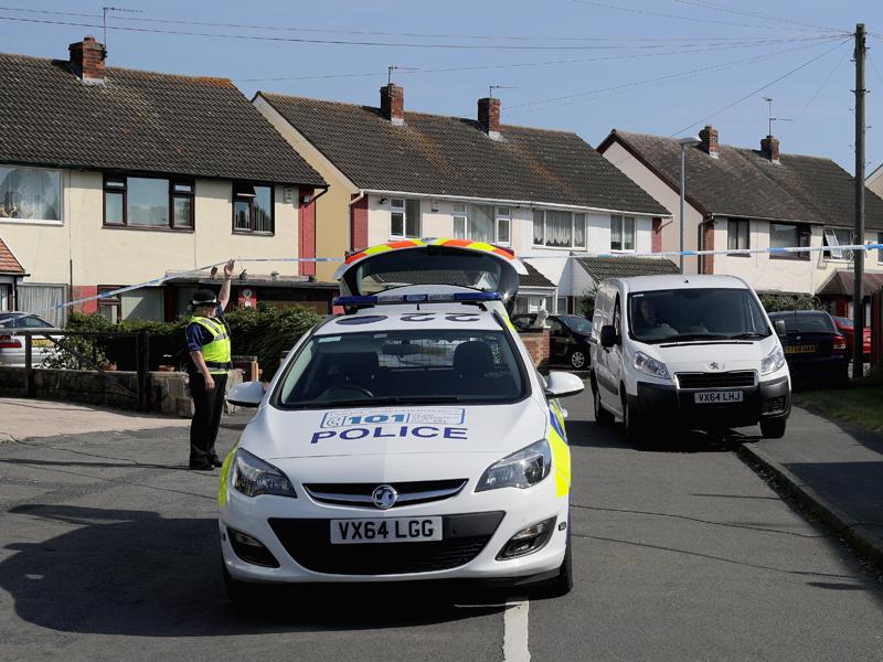 警察が駆け付けた現場 [写真]=Getty Images