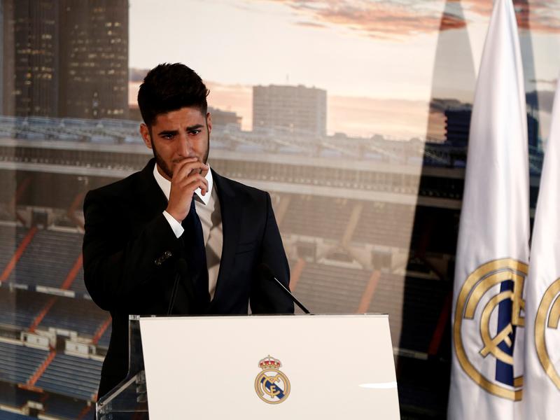 スピーチの途中、アセンシオは涙を見せた [写真]=Anadolu Agency/Getty Images