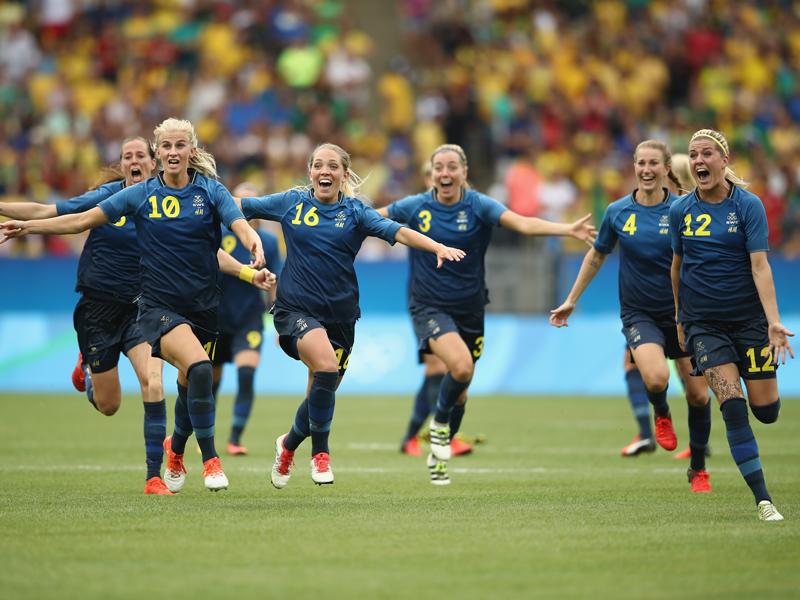 スウェーデンがPK戦を制した [写真]=Getty Images