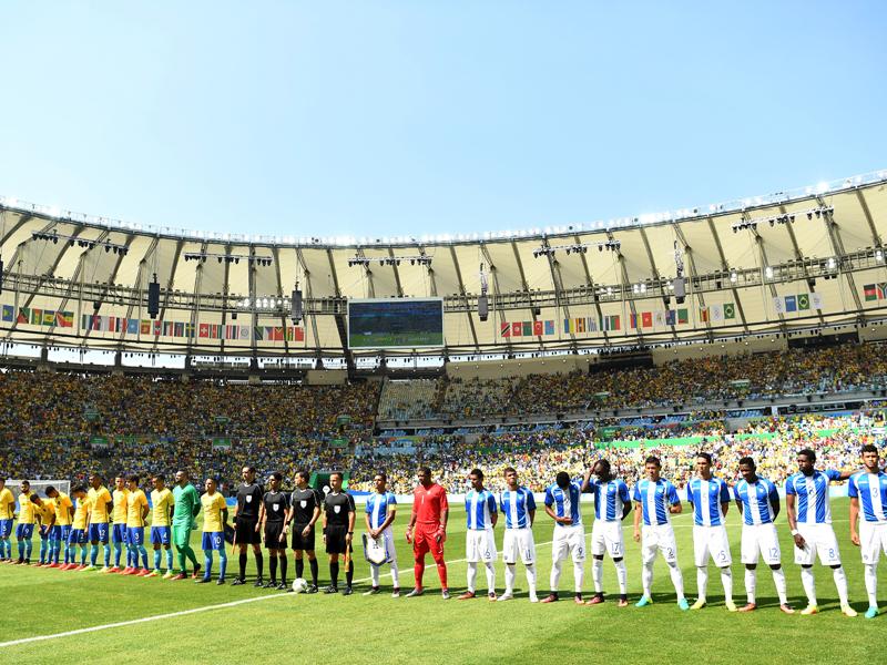 マラカナンでブラジルとホンジュラスが対戦した [写真]=Getty Images