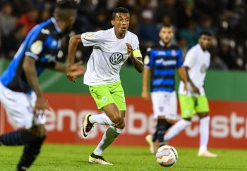 FRANKFURT AM MAIN, GERMANY - AUGUST 20: Luiz Gustavo of VfL Wolfsburg during the DFB Cup match between FSV Frankfurt and VfL Wolfsburg at  Frankfurter Volksbank Stadion on August 20, 2016 in Frankfurt am Main, Germany. (Photo by Alexander Scheuber/Bongarts/Getty Images)