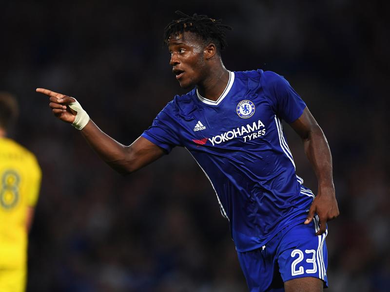先制ゴールを決めて喜ぶバチュアイ [写真]=Chelsea FC via Getty Images