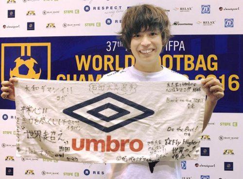 ●日本唯一のプロフットバッグプレイヤー、石田太志が奮闘…世界第2位に輝く