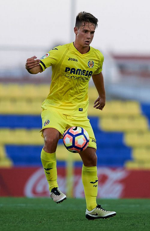 VILLARREAL, SPAIN - JULY 16:  Pablo Larrea of Villarreal in action during the friendly match between Villarreal CF and CD Hospitalet at Ciudad Deportiva of Miralcamp on July 16, 2016 in Villarreal, Spain.  (Photo by Manuel Queimadelos Alonso/Getty Images)