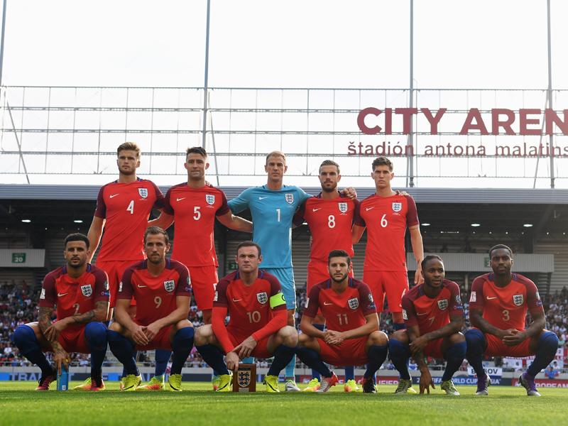 イングランドの先発メンバー [写真]=The FA via Getty Images