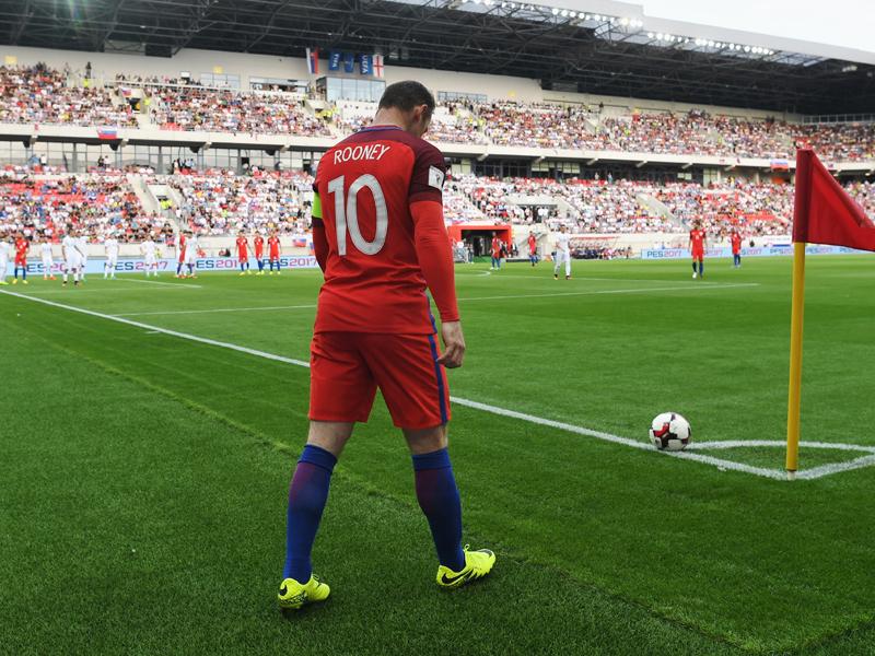 背番号「10」を着け、キャプテンを務めるルーニー [写真]=The FA via Getty Images