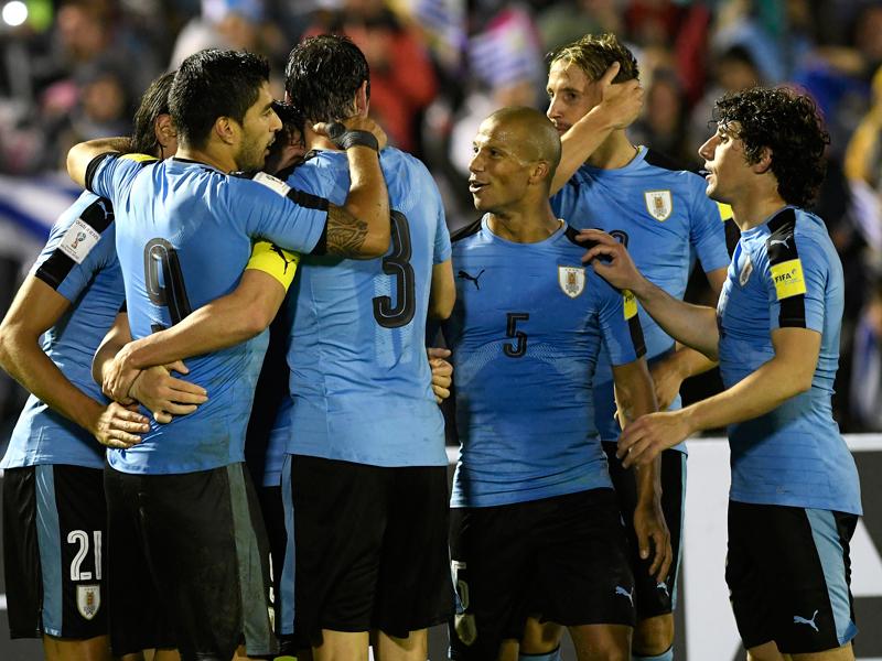 ホームで4ゴールを挙げたウルグアイが快勝した [写真]=LatinContent/Getty Images