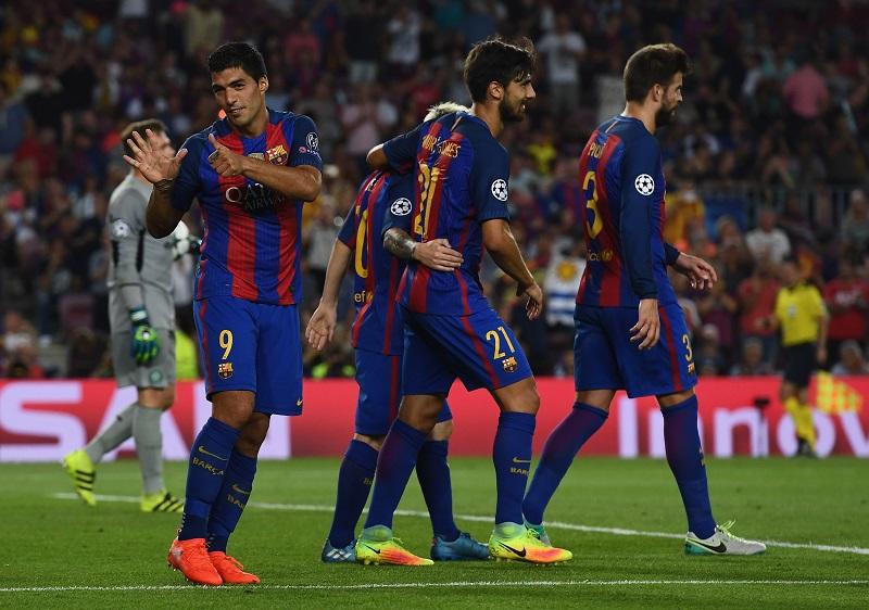スアレス(左)がチーム6点目を挙げる [写真]=Getty Images