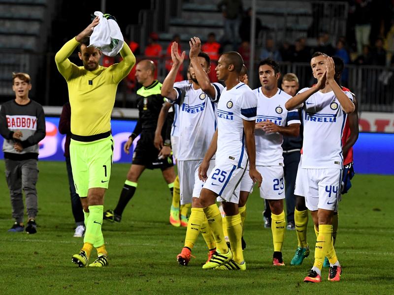 エンポリに快勝し、3連勝を果たしたインテルの選手たち [写真]=Inter via Getty Images