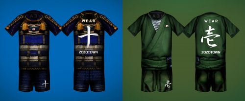 テーマは「侍」と「忍者」、背番号は漢数字 11月5日開催チャリティーマッチの特製ユニが奇抜