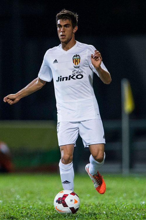 Salva Ruiz of Valencia CF in action LFP World Challenge 2014 between Valencia CF vs Villarreal CF on May 28, 2014 at the Mongkok Stadium in Hong Kong, China. Photo by Victor Fraile (Photo by Victor Fraile/Corbis via Getty Images)
