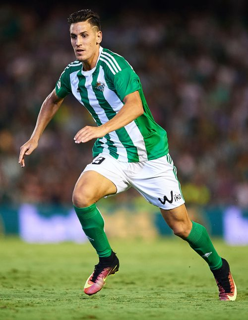 SEVILLE, SPAIN - SEPTEMBER 16:  Alex Alegria of Real Betis Balompie in action during the match between Real Betis Balompie vs Granada CF as part of La Liga at Benito Villamarin stadium on September 16, 2016 in Seville, Spain.  (Photo by Aitor Alcalde Colomer/Getty Images)