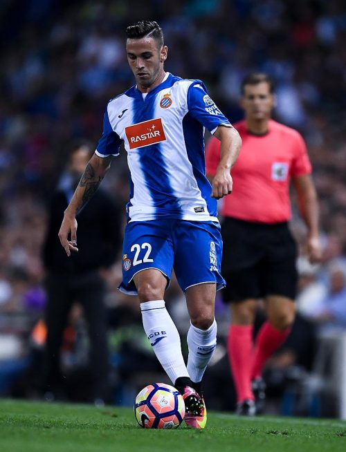 during the La Liga match between RCD Espanyol and Real Madrid CF at the RCDE stadium on September 18, 2016 in Barcelona, Spain.