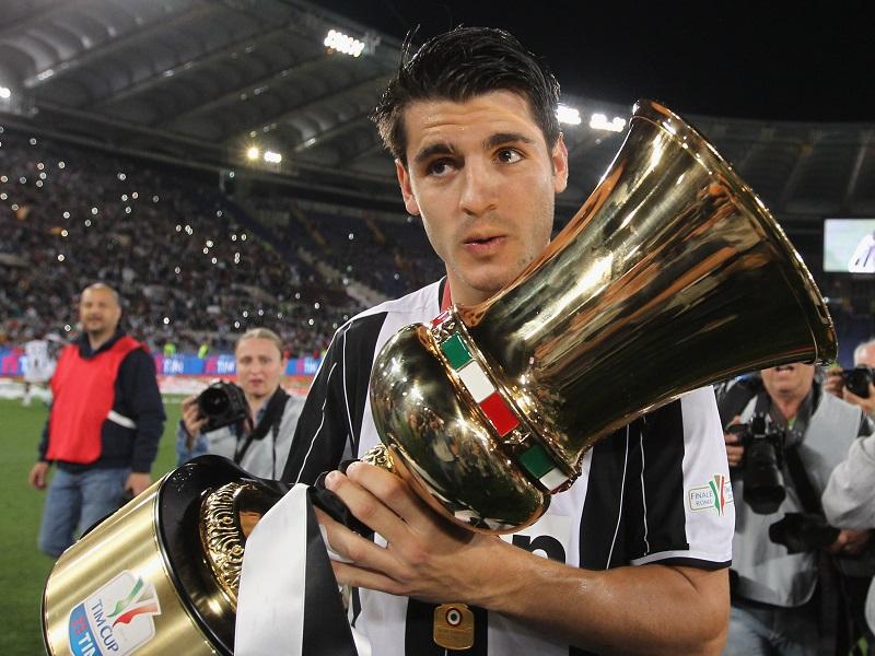 昨シーズンのコッパ・イタリア決勝で値千金の得点を挙げたモラタ [写真]=Getty Images