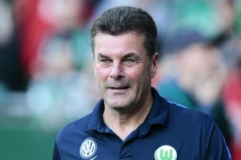 BREMEN, GERMANY - SEPTEMBER 24:  Head Dieter Hecking of Wolfsburg looks on prior to the Bundesliga match between Werder Bremen and VfL Wolfsburg at Weserstadion on September 24, 2016 in Bremen, Germany.  (Photo by Oliver Hardt/Bongarts/Getty Images)