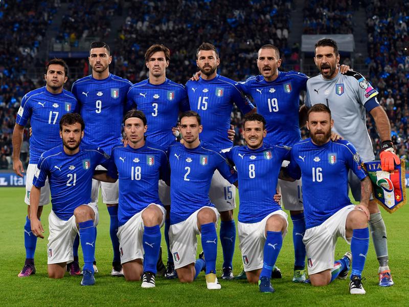 イタリア代表の先発メンバー [写真]=Getty Images