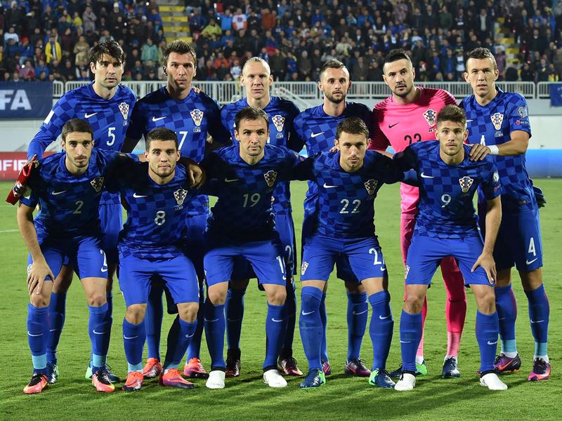 クロアチア代表の先発メンバー [写真]=UEFA via Getty Images