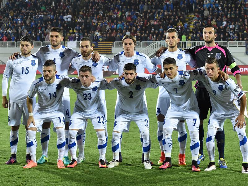 コソボ代表の先発メンバー [写真]=UEFA via Getty Images