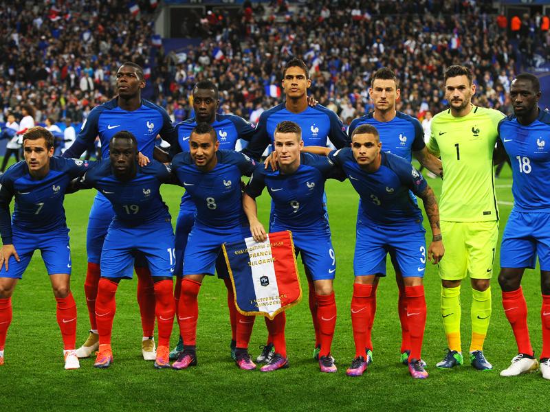 フランス代表の先発メンバー [写真]=Getty Images