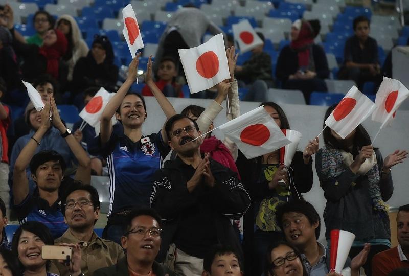 日本サポーターも応援に駆けつけた [写真]=Getty Images