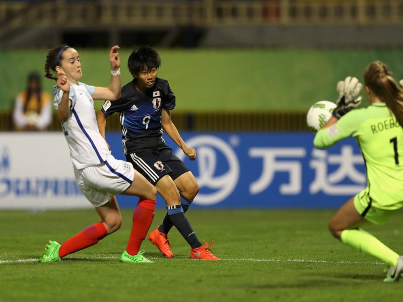 植木理子(9番)が決めたチーム2点目 [写真]=FIFA via Getty Images