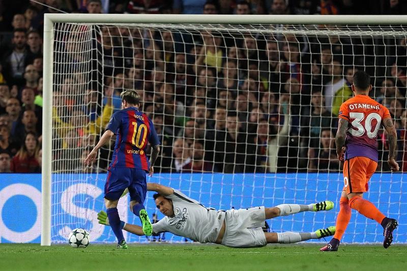 メッシが先制ゴールを挙げる [写真]=Getty Images