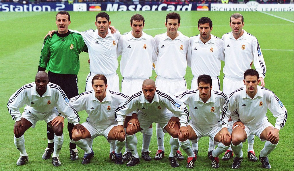 FUSSBALL: CHAMPIONS LEAGUE 01/02, FINALE, Glasgow, 15.05.02, REAL MADRID