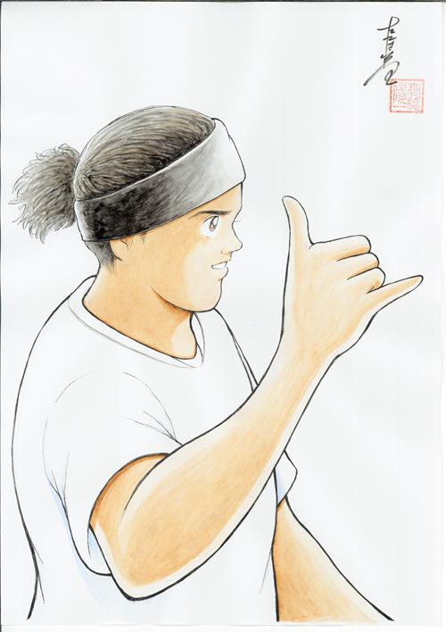 高橋陽一先生が描いたロナウジーニョ