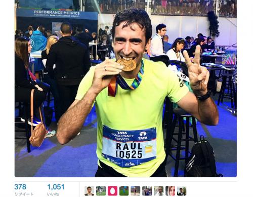 39歳のラウール氏がフルマラソンに挑戦…3時間26分で完走果たす!