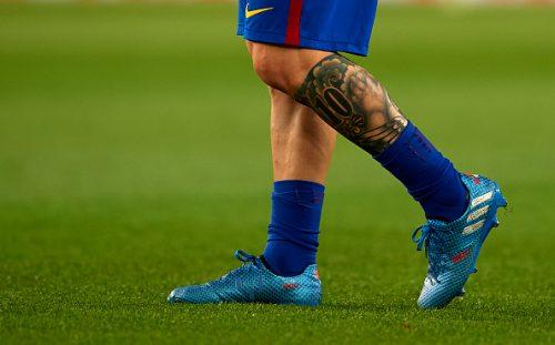●メッシが左足のタトゥーを大幅修正…一部のデザインを除きすべて黒く塗りつぶす